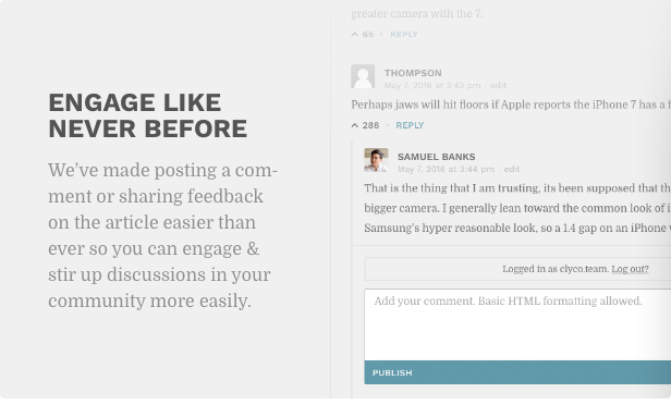 Engage like never before. We've made posting a comment or sharing feedback on the article easier than ever so you can engage and stir discussions in your community more easily.